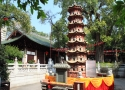 معبد شش درخت انجیر Temple of the Six Banyan Trees  Flower Pagoda